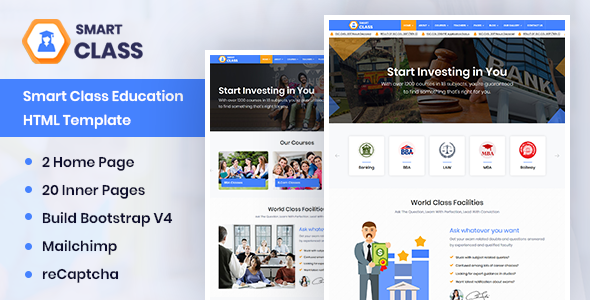 SmartClass | Education Agency Coaching & Tuition HTML Template