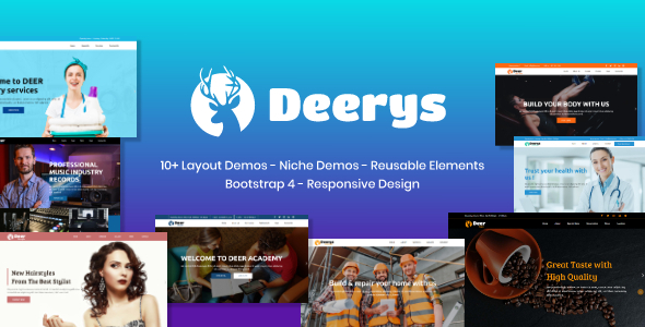 Deerys - Responsive Multi-Purpose HTML Template by rudhisasmito