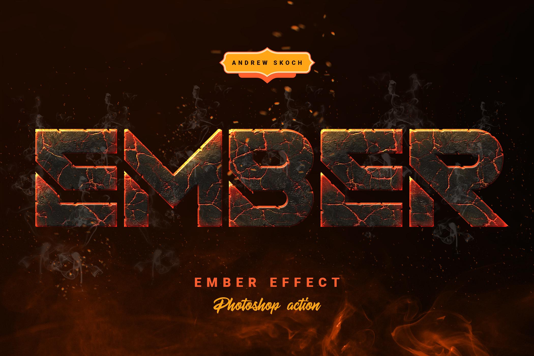 Скачать [Graphicriver] Ember Effect - Photoshop Action (2019), Отзывы Складчик » Архив Складчин