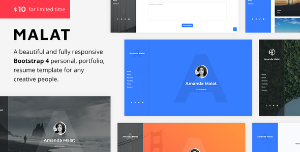 Virtual Business Card Bootstrap 4 Templates   Bootstrap4