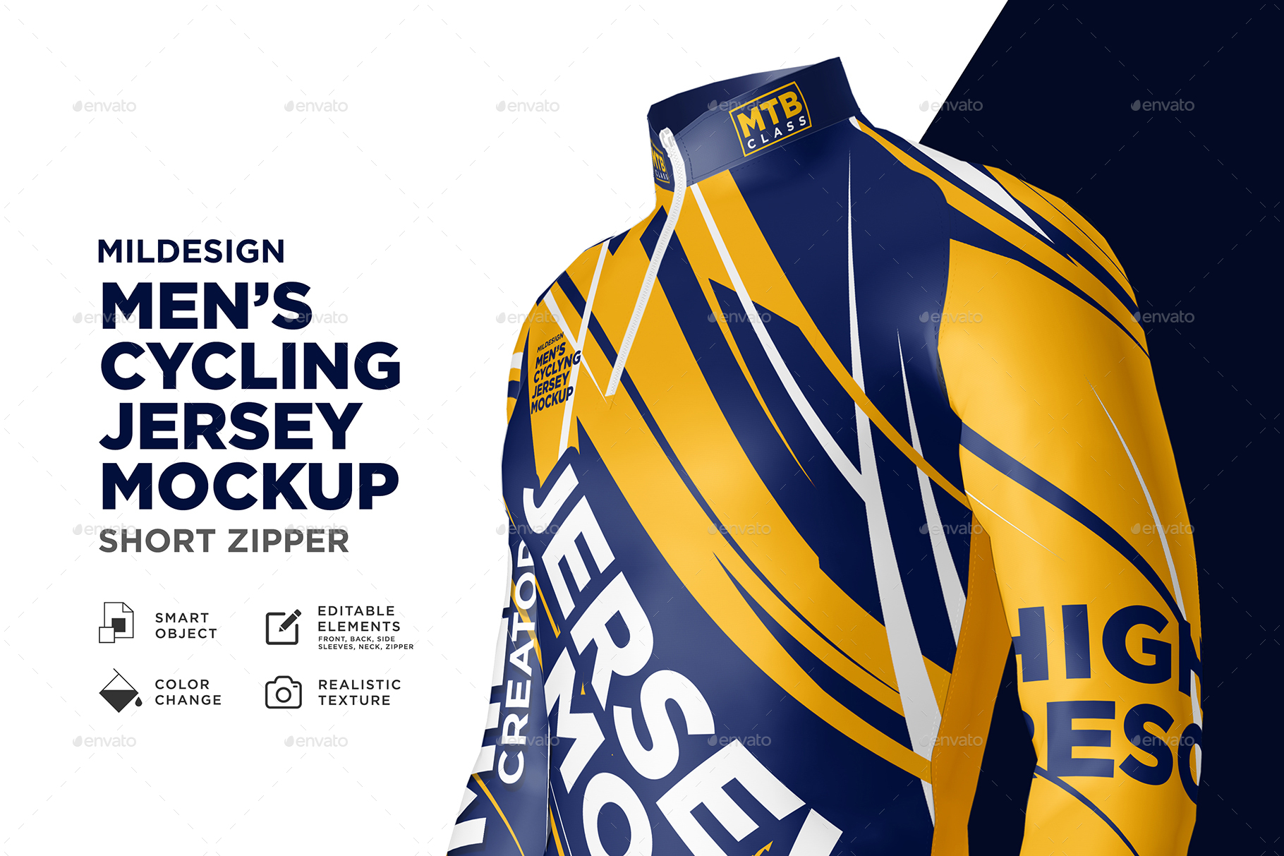 Mens Cycling Jersey Mockup By Acehdesign Graphicriver