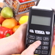 Using payment terminal, fruits and vegetables, cashless paying for shopping concept - PhotoDune Item for Sale
