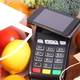 Payment terminal and mobile phone with NFC technology, fruits and vegetables - PhotoDune Item for Sale