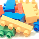 Colorful toy building blocks for children on white background - PhotoDune Item for Sale