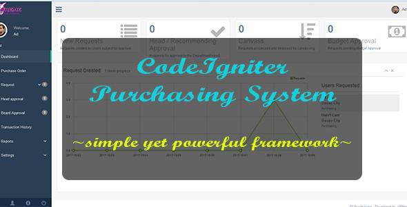 CodeIgniter Purchasing System