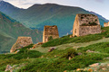 View of medieval tombs in City of Dead in Eltyulbyu, Kabardino-Balkaria, Russia - PhotoDune Item for Sale