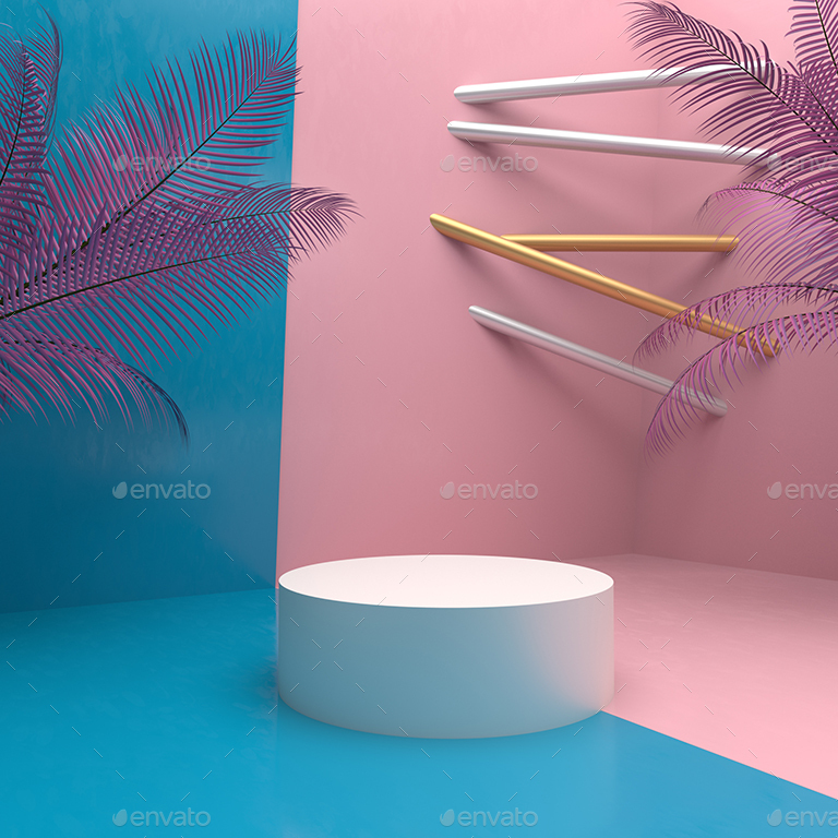 3D Background For Product Showcase By