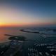 Dock with several luxury yachts and extraordinary island. Dubai marina, United Arab Emirates. - PhotoDune Item for Sale