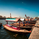 Traditional Abra taxi boats in Dubai creek - PhotoDune Item for Sale
