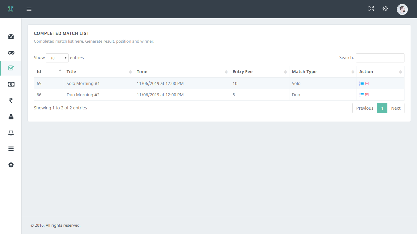 PUBG Tournament App With Admin Panel