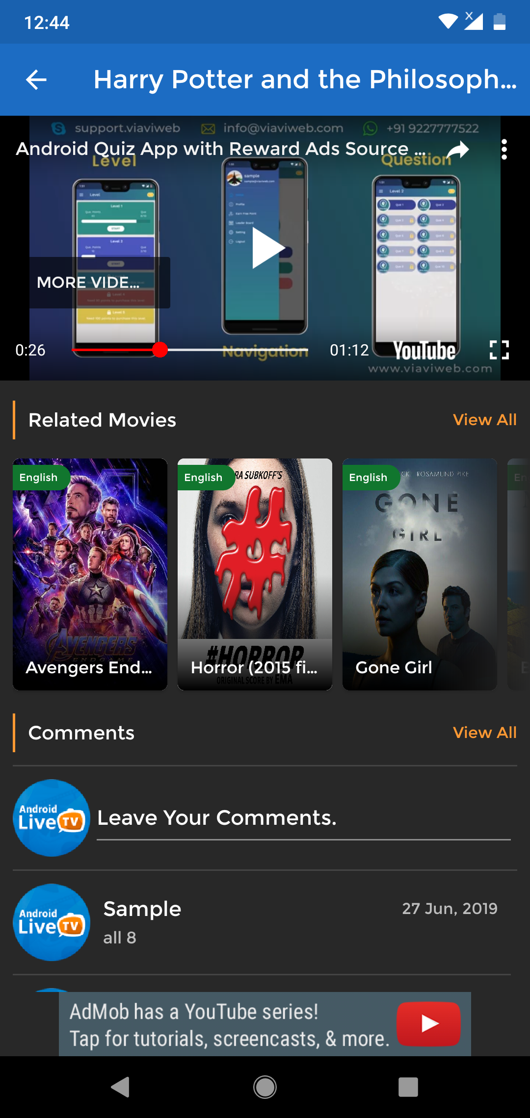 Android Live TV ( TV Streaming, Movies, Web Series, TV Shows & Originals)
