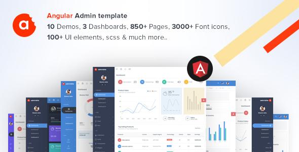 AdminBite Powerful Angular 8 Dashboard Template