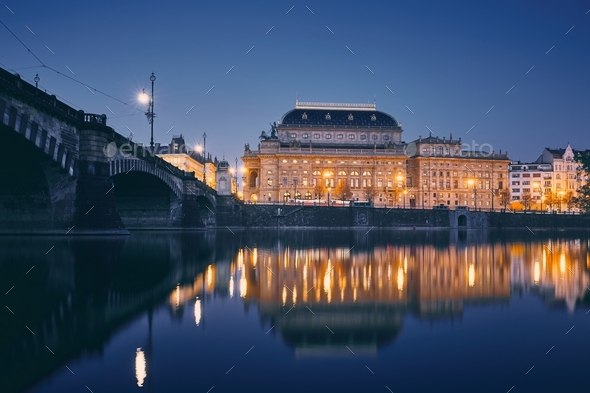 City reflection in river - Stock Photo - Images