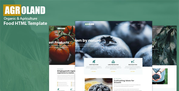 Agroland - Agriculture & Organic Food HTML Template by QuickDev