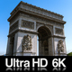 6K Time Lapse Arc de Triomphe in Paris Arch of Triumph at France - VideoHive Item for Sale