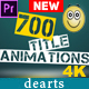 700 Title Animation Premiere Pro - VideoHive Item for Sale
