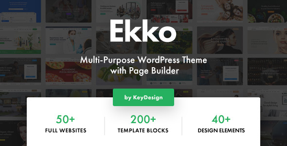 Ekko Multi Purpose Wordpress Theme With Page Builder