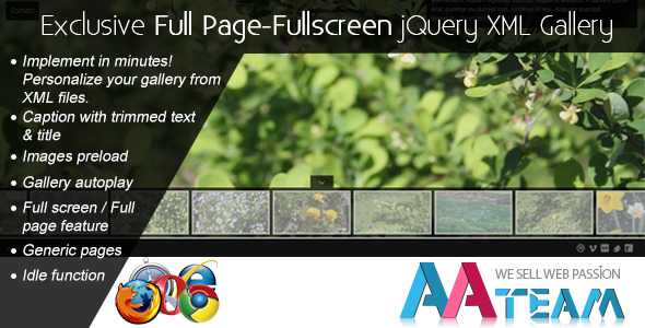Exclusive Full Page-Fullscreen jQuery XML Gallery - CodeCanyon Item for Sale