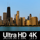 4K Chicago City Sunrise On Cloudless Morning - VideoHive Item for Sale