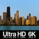 6K Chicago City Sunrise on Cloudless Morning - VideoHive Item for Sale