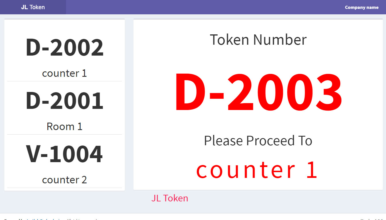 Jl Token Queue Management System By Justlabtech Codecanyon