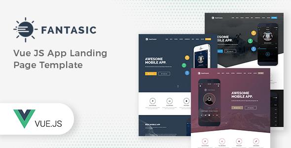 Fantasic - Vue JS App Landing Page Template