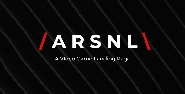 ARSNL - Video Game Landing Page by AtypicalThemes