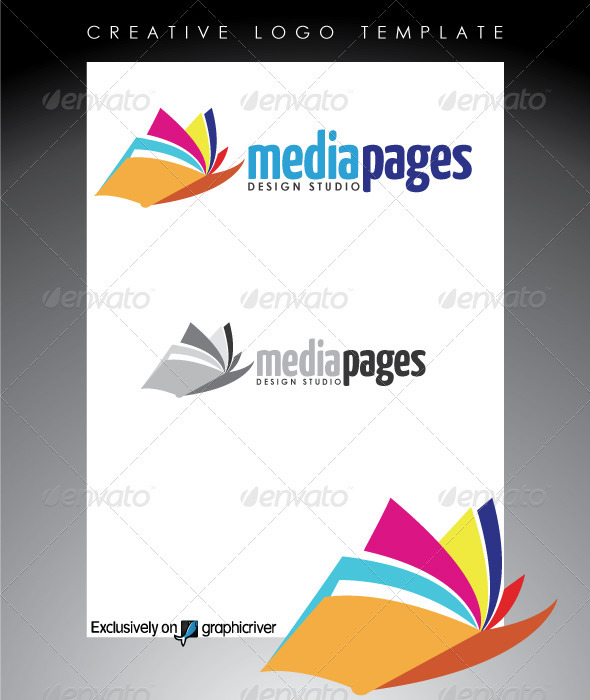 Media Pages Design Studio Logo - Abstract Logo Templates