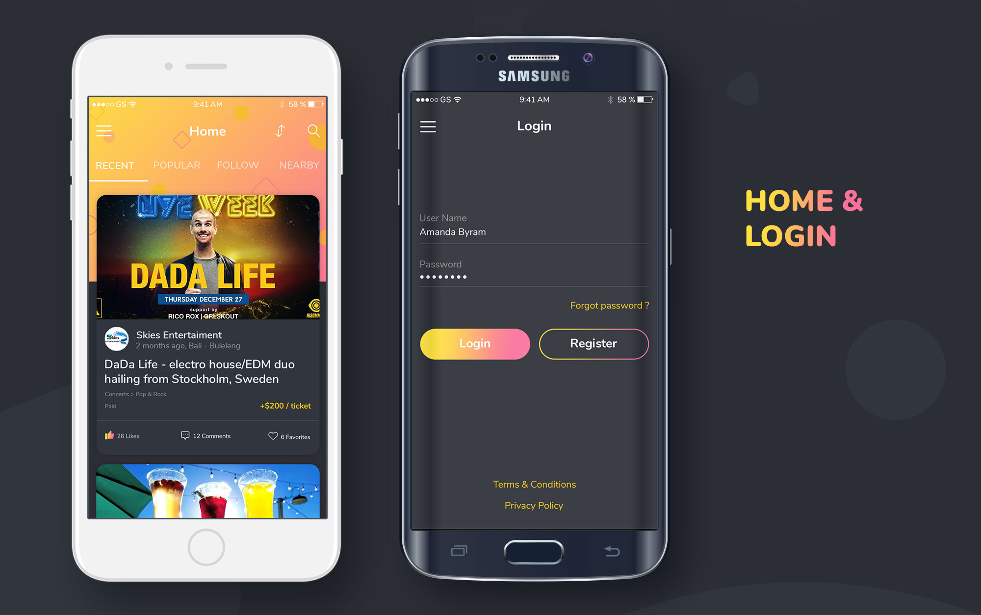 Event Tickets Social Network, Marketplace With Subscription Model - Android