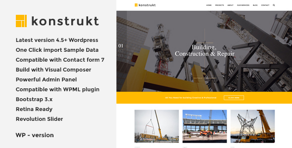 Konstrukt - Construction & Building WordPress Theme