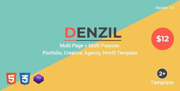 Denzil — Multi-Page Multi-Purpose Html Template by Roelnie