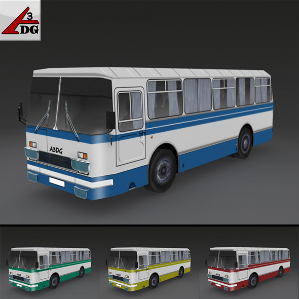 LAZ-BUS (LowPoly) - 3DOcean Item for Sale