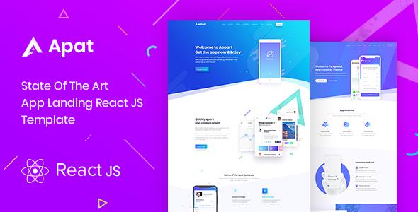 Apat | ReactJS App Landing Showcase Template by Droit-Themes