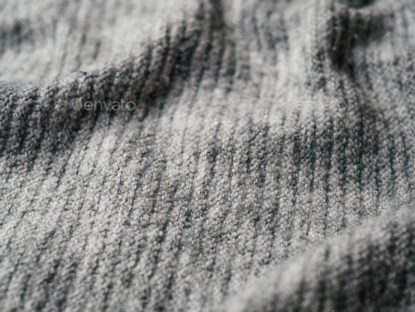 Gray sweater fabric texture - Stock Photo - Images