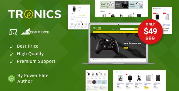 Tronics - Multipurpose Stencil BigCommerce Theme