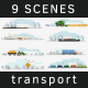 9 Transportation Scenes Full HD - VideoHive Item for Sale