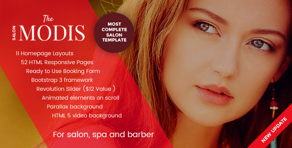 Modis - Salon, Spa & Barber Website Template by designesia