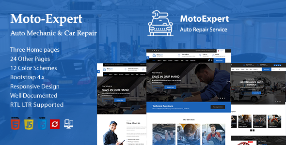 Moto Expert || Auto Mechanic & Car Repair HTML-5 Template by noor_tech