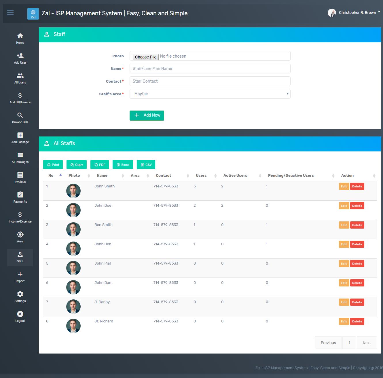Zal - ISP Management System With Mikrotik API