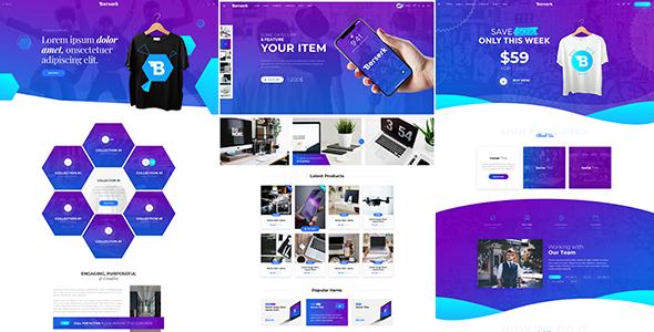 Berserk - Business Portfolio Blog Corporate eCommerce App with Page Builder