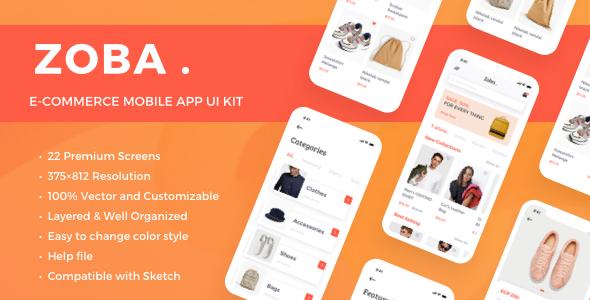 Zoba - E-Commerce Mobile App UI Kit