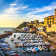 Marina of Piombino sunset view from piazza bovio.Tuscany Italy - PhotoDune Item for Sale