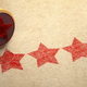 Five stars printed on craft paper with stamp. Rating, best choic - PhotoDune Item for Sale