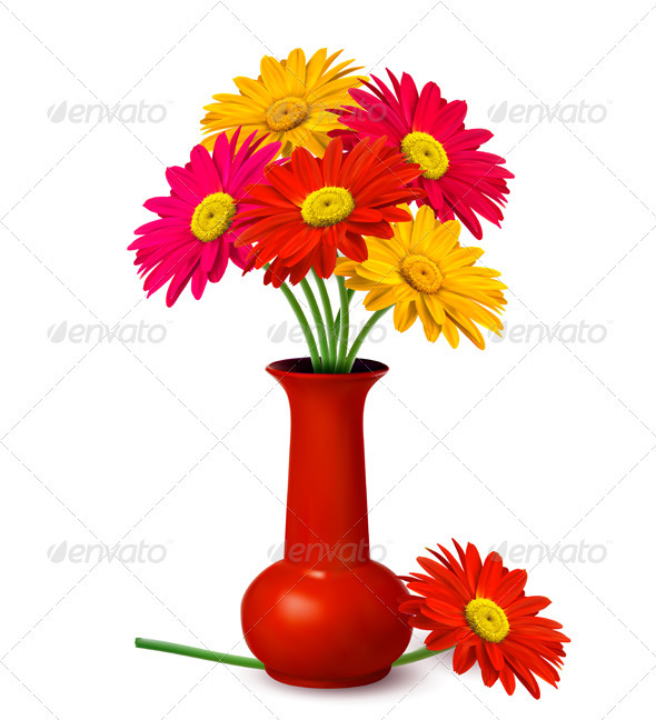 Bunch of flowers in a vase. - Flowers & Plants Nature