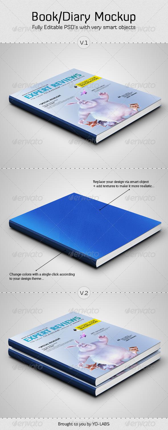 Book / Diary Mockup - Books Print