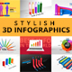Stylish 3D Infographics - VideoHive Item for Sale