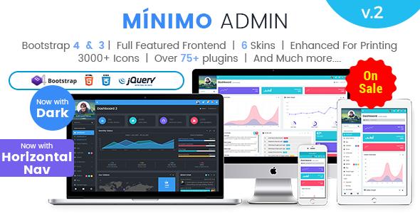 Super Minimo Pro - Responsive Bootstrap 4 & 3 Admin Dashboard Template