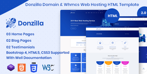 Donzilla - Domain and WHMCS Hosting HTML Template by vecuro