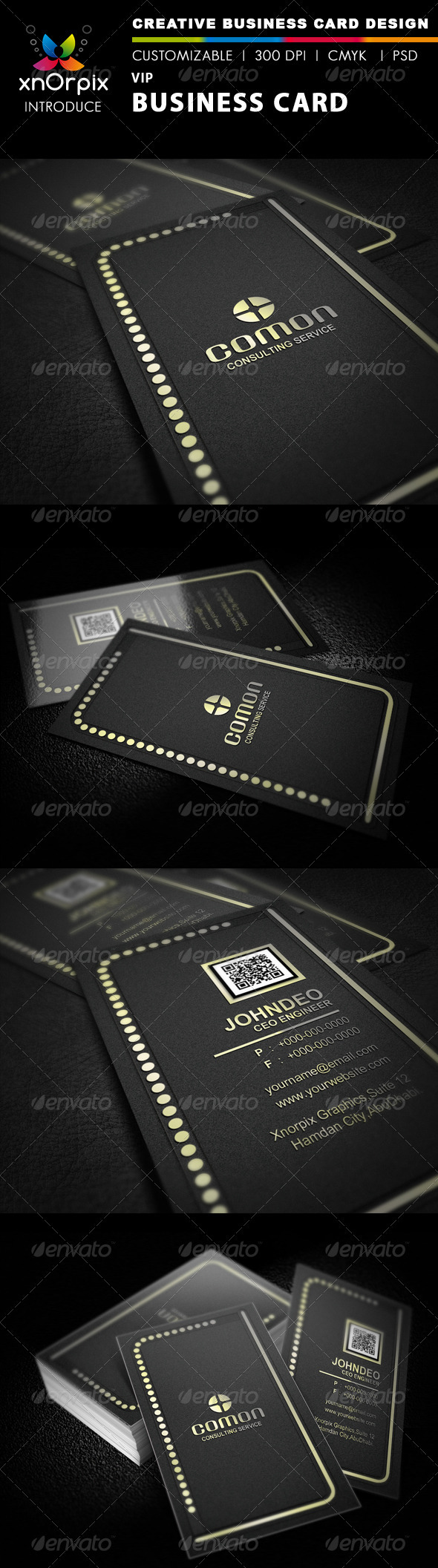 Vip business card by axnorpix graphicriver vip business card business cards print templates reheart Images