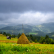 Beautiful mountain landscape with dramatic clouds in Carpathian - PhotoDune Item for Sale